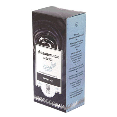 Маска альгинатная противовоспалительная «Мумие» 1